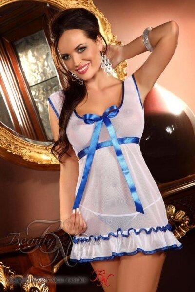 BEAUTY NIGHT FASHION Erotická košilka Marie barva bílá, velikost S/M