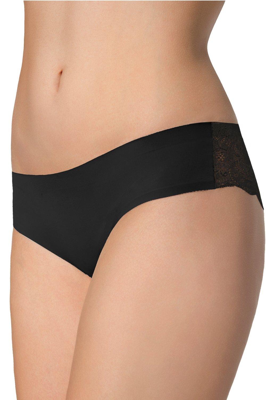 JULIMEX Dámské kalhotky TANGA PANTY černá barva černá, velikost XL