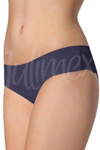Julimex Dámské kalhotky Tanga Tm. modrá barva tmavě modrá, velikost L