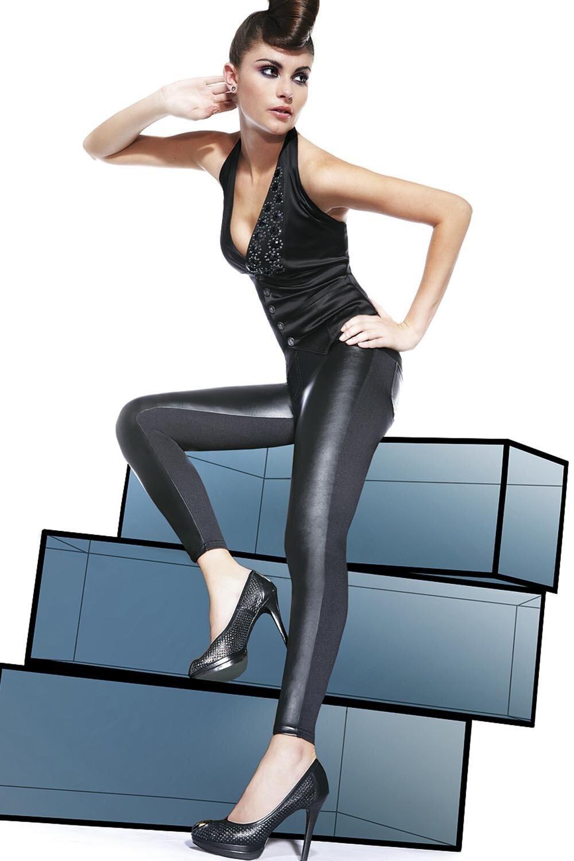 BAS BLEU Dámské legíny Ingrid barva černá, velikost S