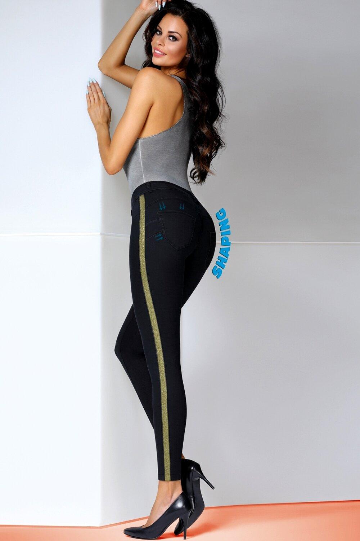 BAS BLEU Dámské tregíny Toni gold barva černá, velikost 4