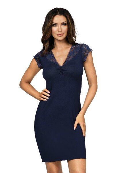 Donna ELENI noční košile modrá barva modrá, velikost XL