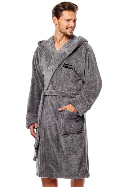 L&L Pánský župan 8130 grey barva šedá, velikost XL