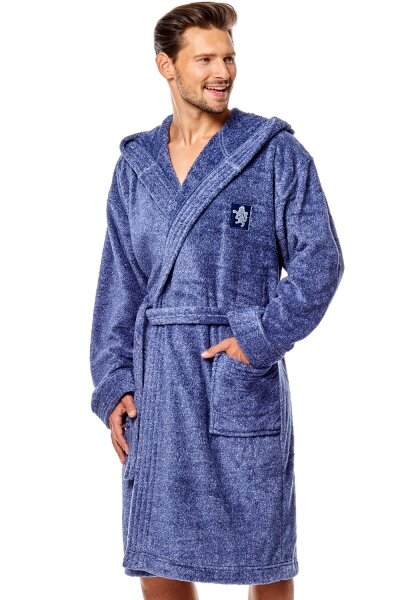 L&L Pánský župan Bruce navy barva modrá, velikost L